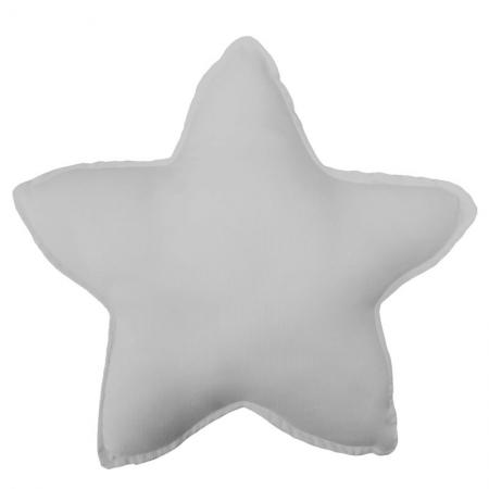 Cojín infantil Estrella gris liso