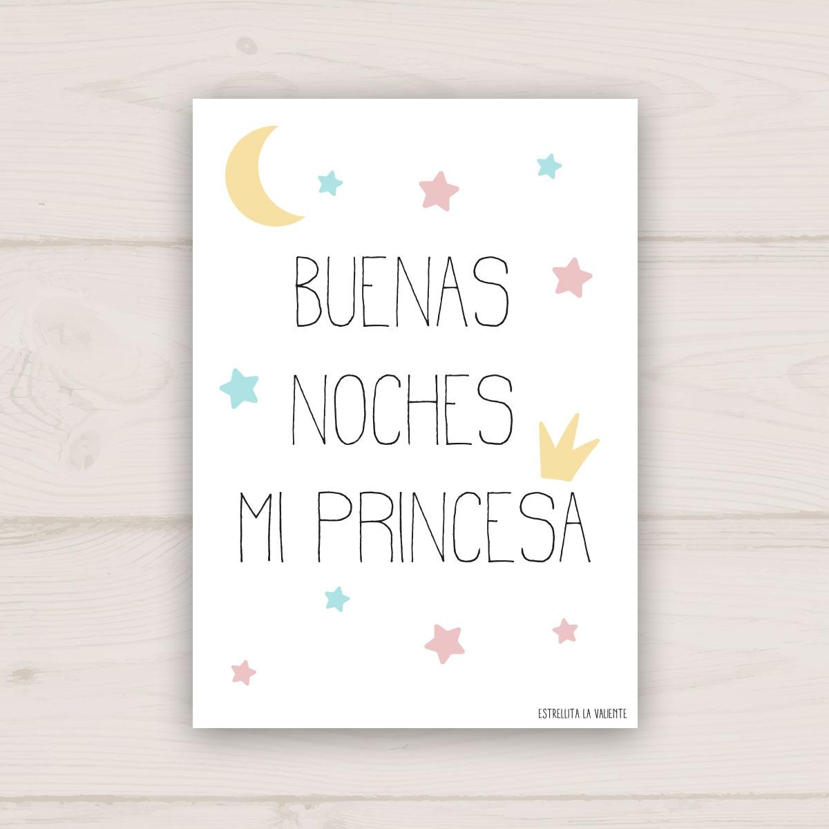 Lámina Buenas noches mi princesa
