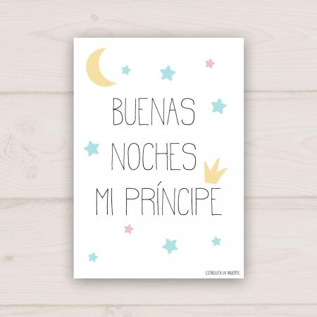 Lámina Buenas noches mi príncipe