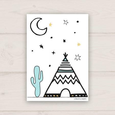 Lámina tipi y luna