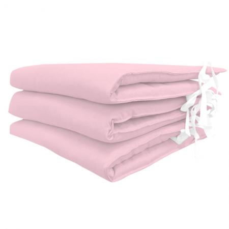 Protector de cuna rosa