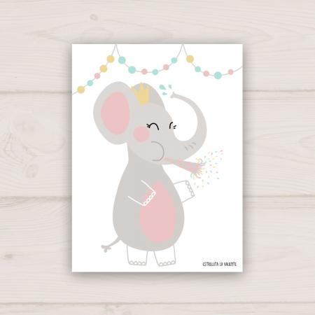 Lámina elefanta de fiesta cuerpo completo
