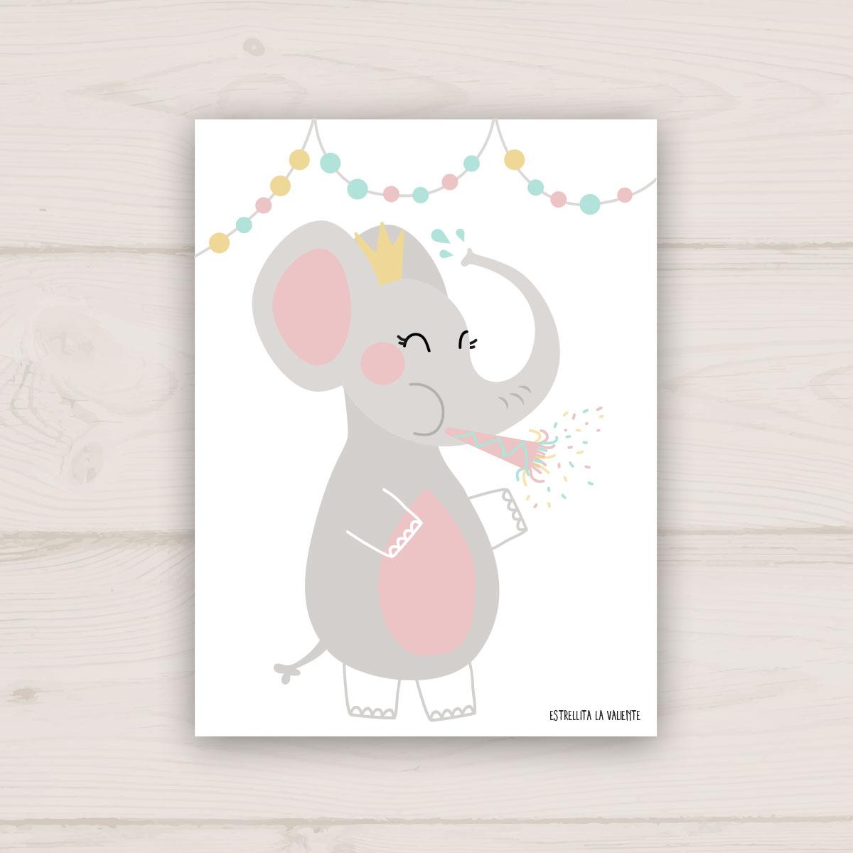 Lamina fiesta elefante estrellita la valiente - Estrellita la valiente ...