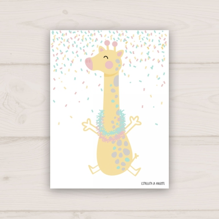 Lámina jirafa de fiesta cuerpo completo