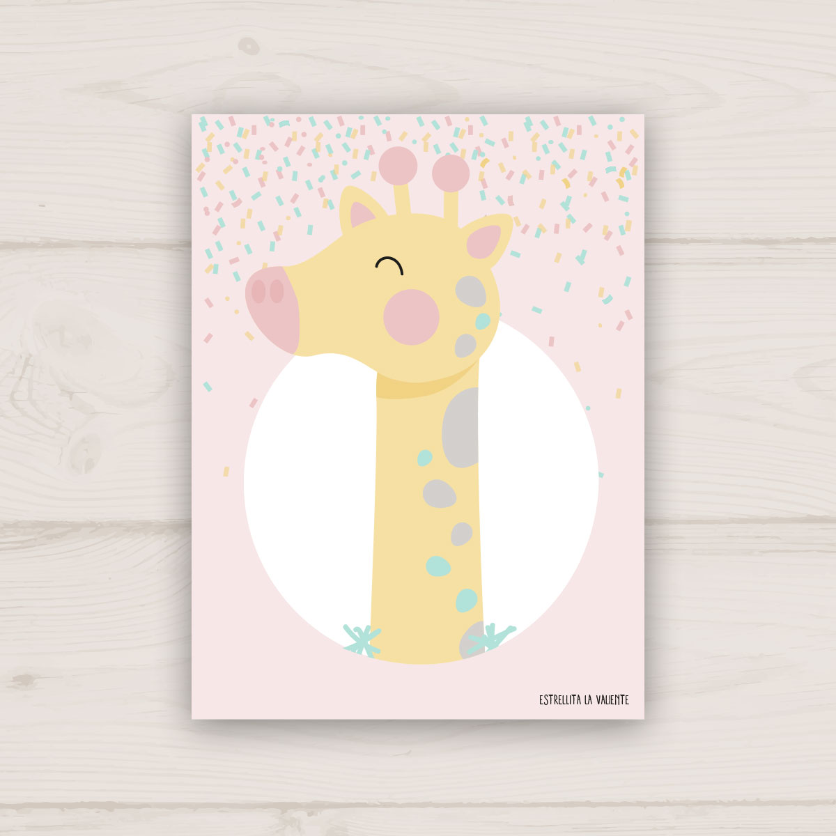 Lámina jirafa de fiesta