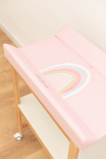 Estructura de bañera con cambiador rosa