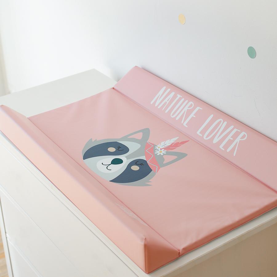 Colchoneta cambiador para bebé color rosa