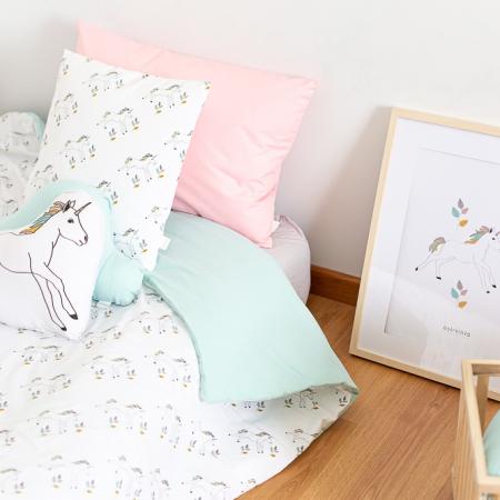 Colcha de cama unicornios