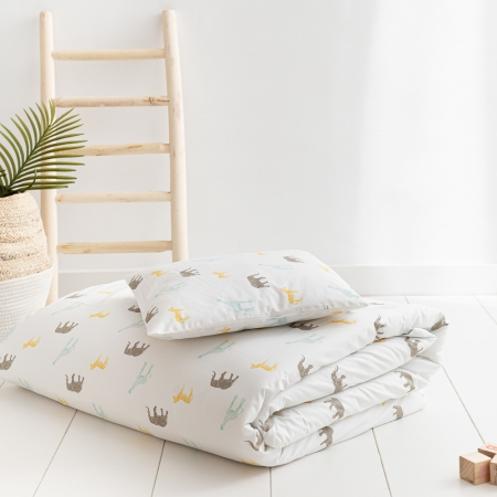 Ropa de cama infantil animales de la sabana