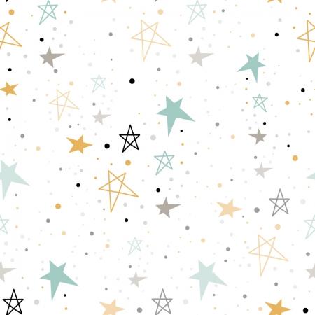 Papel pintado estrellas multicolor
