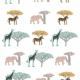 Vinilos decorativos cebra, elefante y jirafa