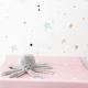 Vinilo decoración habitaciones infantiles Noche estrellada rosa