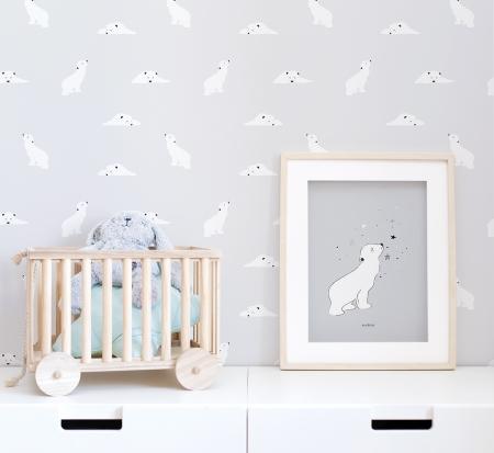 Papel pintado y lámina oso polar