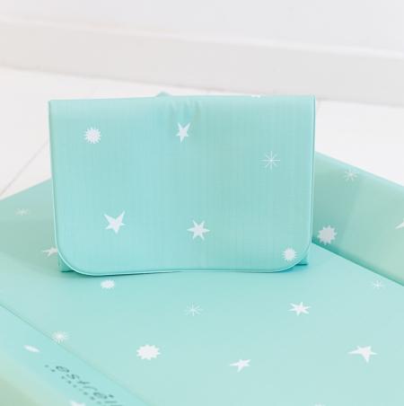 Cambiador bebé azul estrellas blancas Estrellita La Valiente