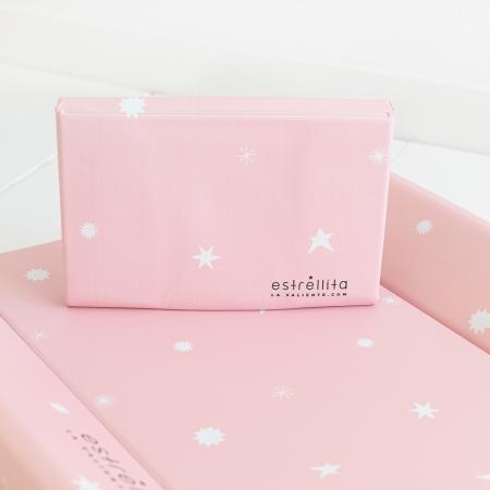 Cambiadores bebé rosa con estrellas