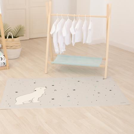 Alfombra vinilo gris oso polar