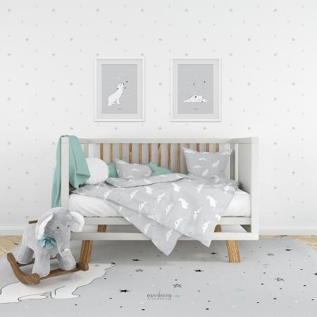 Papel pintado infantil oso polar