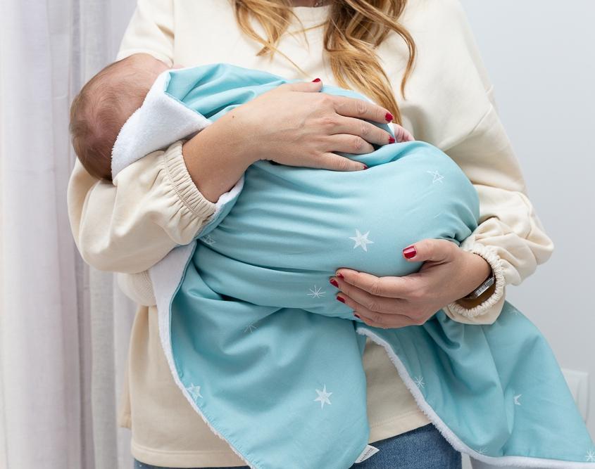 Mantas para bebés color azul