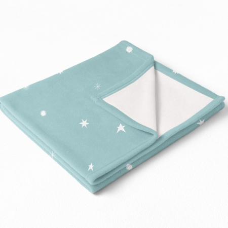 Manta polar bebé Estrellas Mint