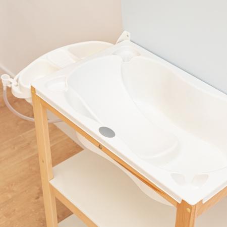 Bañera para bebé con estructura y desagüe