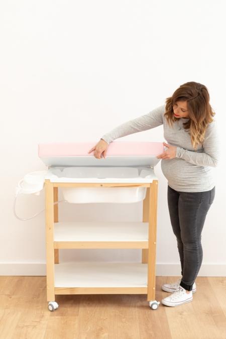 Bañera para bebé con tapa cambiador