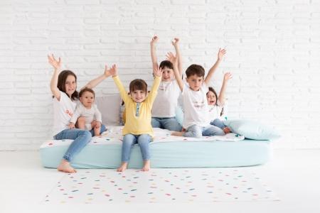 Ropa de cama colección huellas blanco y mint