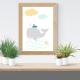 Láminas infantiles ballena con marco