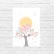 Lámina infantil árbol y sol