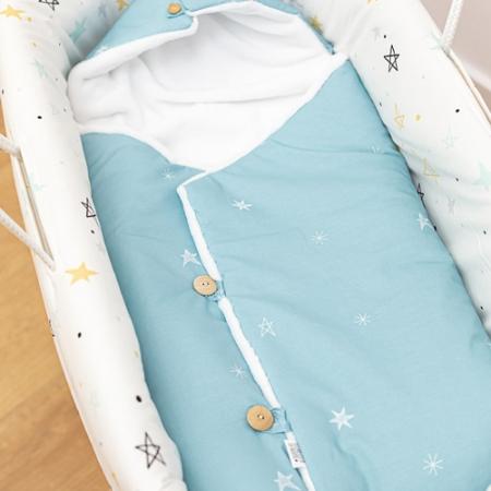 Capazo para bebe Noche estrellada mostaza