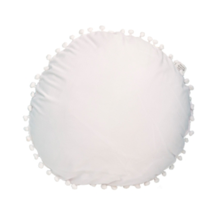 Cojín con borlas blanco