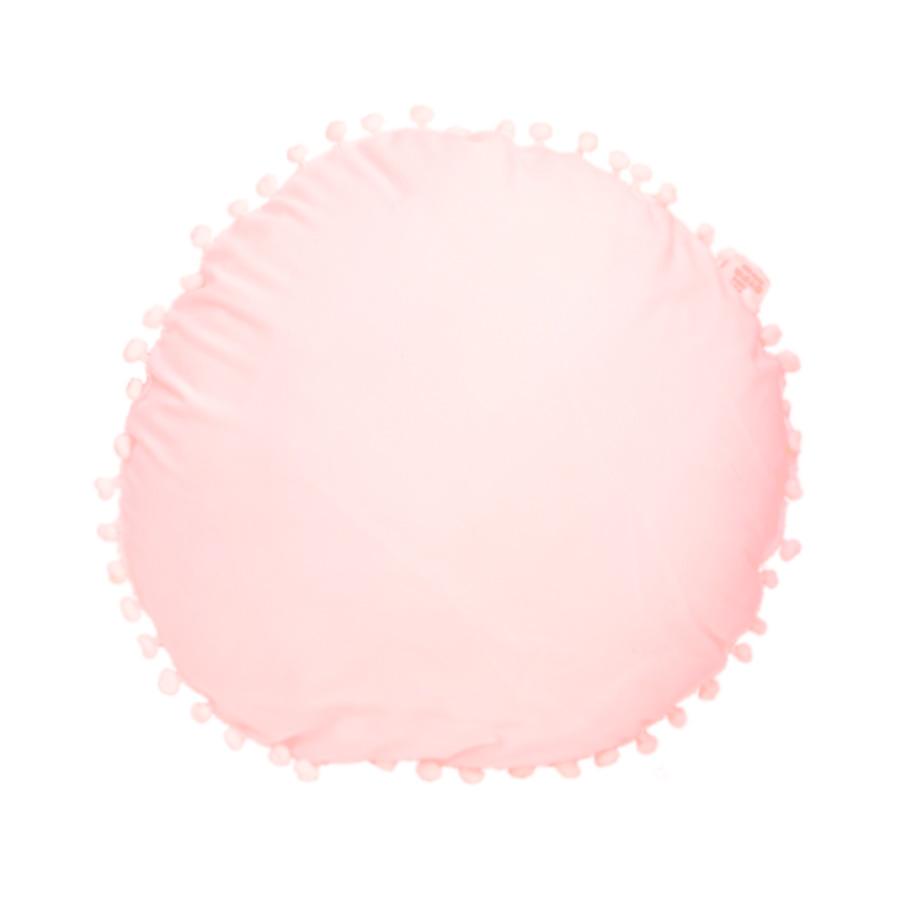 Cojín con borlas rosa