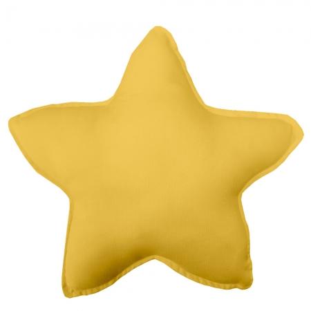 Cojín decorativo estrella mostaza