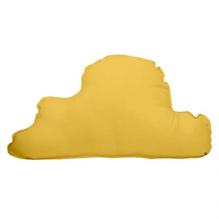 Cojín decorativo nube mostaza